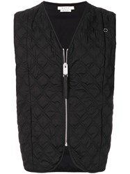 Alyx Quilted Waistcoat Cotton Spandex Elastane Polyester Black