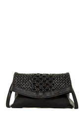 Sondra Roberts Braided Nappa Crossbody Black