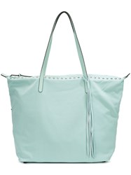 Rebecca Minkoff Studded Tote Women Leather Nylon One Size Green