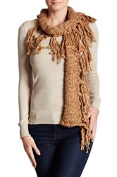 Collection Xiix Roving Slimmy Fringe Scarf Beige