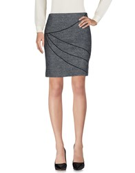 Caractere Knee Length Skirts Grey