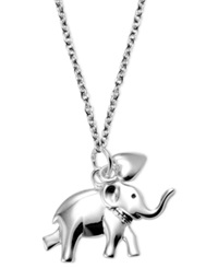 Unwritten Sterling Silver Necklace Elephant And Heart Pendant