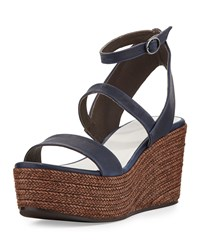 Coclico Rye Braided Wedge Sandal Prussian Blue Women's
