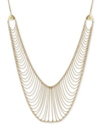 Lucky Brand Gold Tone Multi Chain 29 Statement Necklace