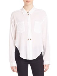 Mcguire Long Sleeve Snap Front Shirt White