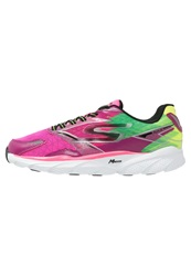 Skechers Performance Go Run Ride 4 Cushioned Running Shoes Hot Pink Lime
