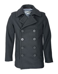 Schott Slim Fit Fashion Pea Coat Navy