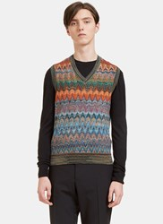 Missoni Zigzag Knit Vest Black
