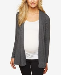 Motherhood Maternity Open Front Cardigan Grey