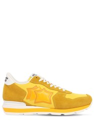 Atlantic Stars Antares Suede And Nylon Running Sneakers Yellow