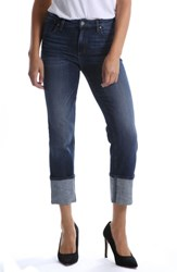 Kut From The Kloth Roll Up Straight Leg Jeans Protective