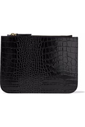 Iris And Ink Croc Effect Leather Pouch Black