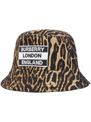 Burberry Reversible Leopard Print Bucket Hat 60