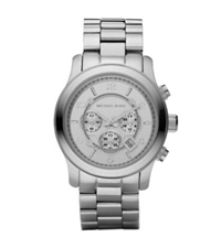 Michael Kors Runway Oversized Silver Tone Watch