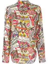 Dsquared2 All Over Print Shirt Neutrals