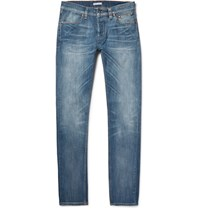 Michael Bastian Skinny Fit Washed Selvedge Stretch Denim Jeans Mid Denim