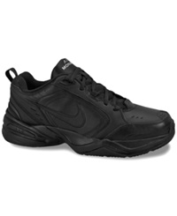 Nike Men's Air Monarch Iv Wide Sneakers From Finish Line Black Black