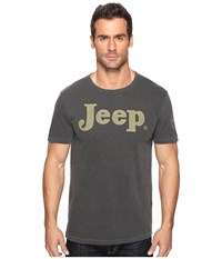 Lucky Brand 1955 Jeep Graphic Tee Black Mountain Men's T Shirt