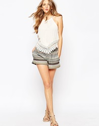 Mango Multi Stripe Knit Shorts Mutli