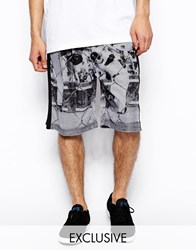 Reclaimed Vintage Ltd Edition Shorts With Baller Print White
