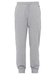Hanro Cotton Blend Jersey Track Pants Grey