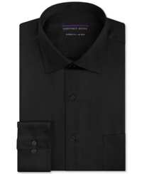 Geoffrey Beene Non Iron Sateen Solid Dress Shirt Black