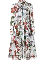 Erdem Floral Printed Shirt Dress White
