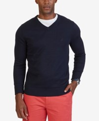 Nautica Men's V Neck Sweater Navy