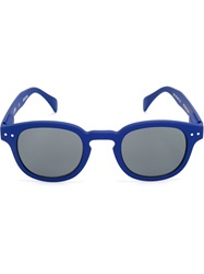 See Concept Round Frame Sunglasses Blue