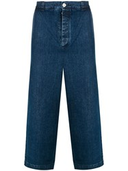 Sunnei Wide Leg Over Trousers Blue