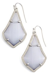 Kendra Scott Women's Alex Drop Earrings Slate Cats Eye Silver