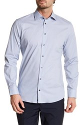 14Th And Union Long Sleeve Print Trim Fit Woven Shirt Blue