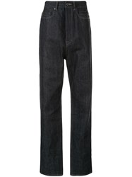Rick Owens Drkshdw Raw Straight Leg High Rise Denim Jeans 60