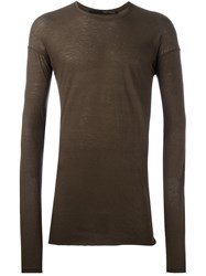 Isabel Benenato Crew Neck Jumper Green