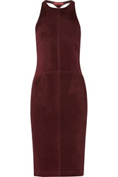 Tamara Mellon Cutout Suede Dress