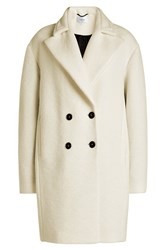 Carven Coat With Virgin Wool White