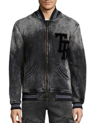 True Religion Varsity Bomber Jacket Used Black
