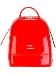 Furla Branded Backpack Yellow And Orange