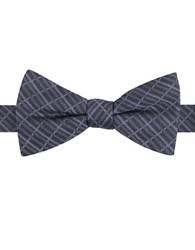 William Rast Grid Patterned Bow Tie Grey