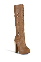 N.Y.L.A. Mitchell Lace Up Boot Beige