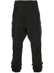 R 13 R13 Distressed Cargo Trousers Black