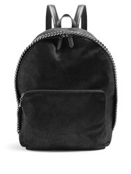 Stella Mccartney Falabella Faux Suede Backpack Black
