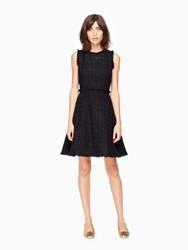 Kate Spade Shimmer Tweed Dress Black