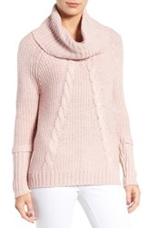 Ivanka Trump Women's Cowl Neck Sweater Heather Blush Pink