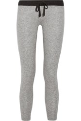 James Perse Genie Cashmere Track Pants Light Gray