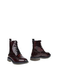 Serafini Times Ankle Boots Maroon
