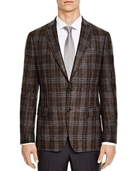 The Men's Store At Bloomingdale's Brown Blue Check Slim Fit Sport Coat