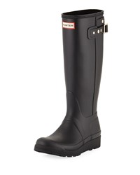 Hunter Original Tall Wedge Rubber Welly Boot Black