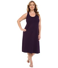 Jockey Plus Size 47 Cotton Racerback Gown Eggplant Women's Pajama Purple