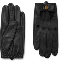 Dents Silverstone Touchscreen Leather Driving Gloves Black